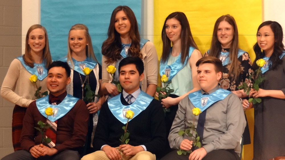 NHS Inducted Nine New Members